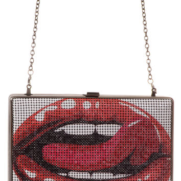 Fatal Flirt Metal Mesh Box Purse