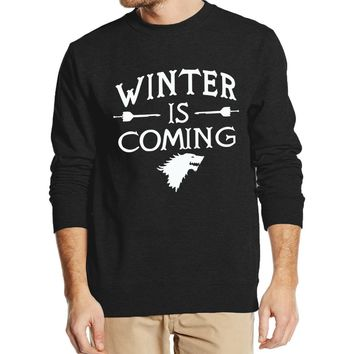 hip hop sweatshirt Game of Thrones Winter Is Coming men hoodies 2016 new autumn winter cool streetwear fleece clothing