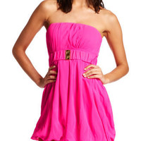 Charlotte Russe - Pink Bubble Dress with Belt