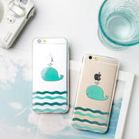 Cute little whale phone case for iPhone 7 7 plus iphone 6 6s 6 plus 6s plus + Nice gift box 080902