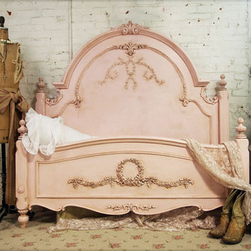 Painted Cottage Romance Queen Shabby Pink Bed by paintedcottages