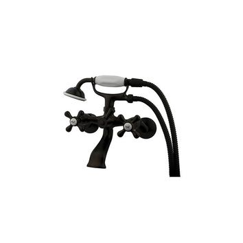 Elements of Design Double Handle Wall Mount Clawfoot Tub Faucet Trim