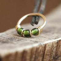 SPECIAL EDITION - Evergreen, Beaded Nose Ring