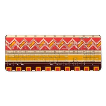 Bohemian Traditional Art Pattern Wireless Keyboard