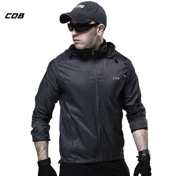 CQB Outdoor Sports Camping Tactical Military Men's Jacket for Hiking Skin Thin Breathable Summer Quickly-dry Cloth Trekking Coat