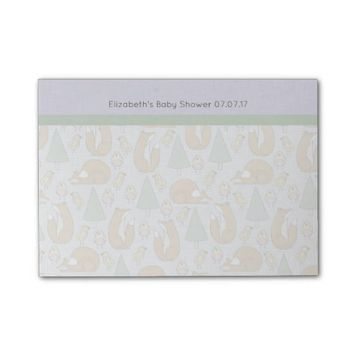 Cute Woodland Creatures Pattern Baby Shower Post-it® Notes