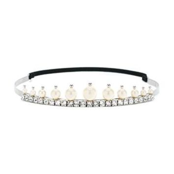 MIU MIU | Pearl & Crystal Embellished Tiara | Womenswear | Browns Fashion