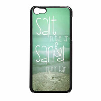 Beach Quote Salt In The Air Sand In My Hair 2 Iphone 5C Case