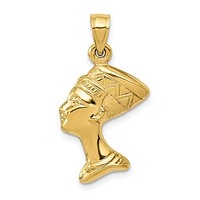 14k Yellow Gold 3-D Nefertiti Pendant
