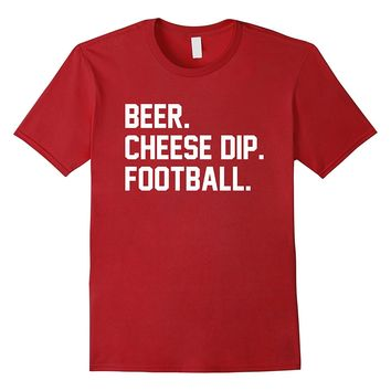 Beer Cheese Dip Football T-Shirt for Game Day