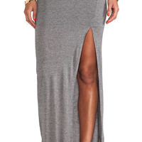 Bella Luxx Column Skirt in Gray