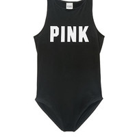 High Neck Tank Bodysuit - PINK - Victoria's Secret