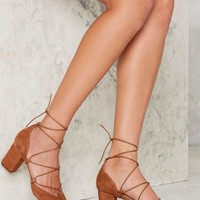 Intentionally Blank Hatter Suede Heel - Beige