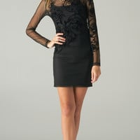 EMBROIDERED BAROQUE MESH DRESS