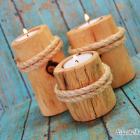 Set of 3 Beach Pier Candle Holders, Nautical Decor , Home Decor, Beach Wedding, Beach Magic