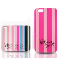 Victoria/'s Secret Soft Silicon Stripe Case Covers For iPhone 6 6s Plus 6 Rubber Case