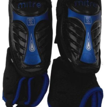 Lot 2 Mitre GW Plus Peewee Shin Guards Protection Soccer Removable Anklet Bottle