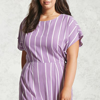 Plus Size Striped Romper