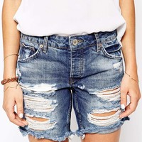 River Island Boyfriend Short Super Ripped