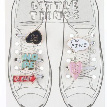 Shoe Lace Can You Not Charm Set