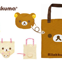 Strapya World : San-X Rilakkuma Eco-Friendly Reusable Shopping Bag