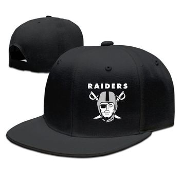 Oakland Raiders Funny Unisex Adult Womens Flat Brim Hats Mens Baseball Hats