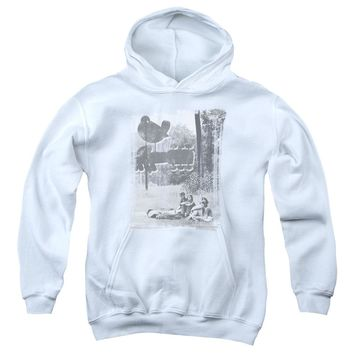 Woodstock - Hippies In A Field Youth Pull Over Hoodie