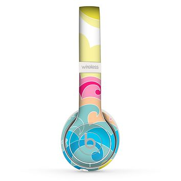 The Cartoon Bright Palm Tree Beach Skin Set for the Beats by Dre Solo 2 Wireless Headphones