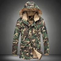Brand Winter Thick Camouflage Jacket