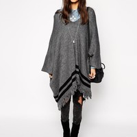 ASOS | ASOS Poncho With Fringing at ASOS