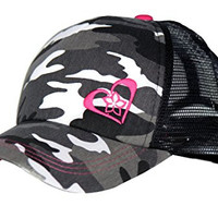 Pink Camo Trucker Hat for Women and Girls of All Ages - Very Stylish Cap - This Womens Trucker Hat Is Guaranteed to Satisfy. Our Trucker Hats for Women Come with 100% Lifetime Guarantee!