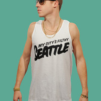 My City's Filthy Seattle Tank | Macklemore & Ryan Lewis Merchandise