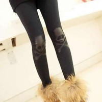 Fashion Black Skull Pattern Legging Multi Color Avaliable from 1Point99.com