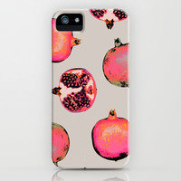 Pomegranate Pattern iPhone & iPod Case by Georgiana Paraschiv