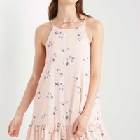 Pink Chelsea Floral Swing Dress