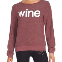 Wildfox - Scoopneck Long Sleeve Pullover