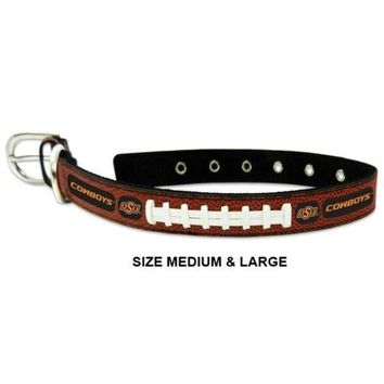 PEAPB5F Oklahoma State Cowboys Classic Leather Football Collar