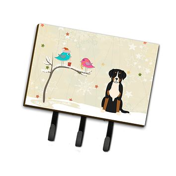 Christmas Presents between Friends Greater Swiss Mountain Dog Leash or Key Holder