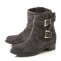 DUNE LADIES PHILEE - Buckle Detail Ankle Boot - dark grey | Dune Shoes Online