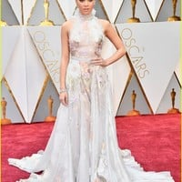 Hailee Steinfeld Returns To Oscars 2017 in a Super Romantic Dress | hailee steinfeld back dress pretty 2017 oscars 07 - Photo