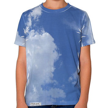 Clouds All Over Youth T-Shirt Dual Sided All Over Print
