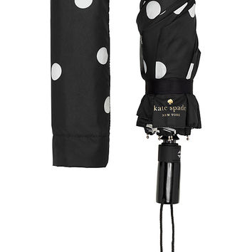 black and cream deco dot travel umbrella