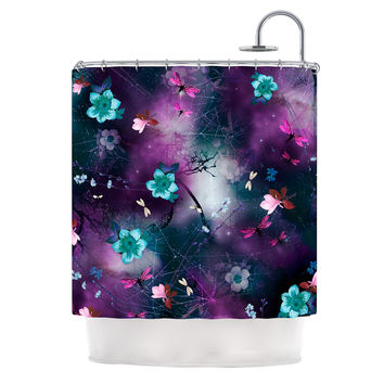 "Fernanda Sternieri ""Fairy Tale"" Purple Floral Shower Curtain"