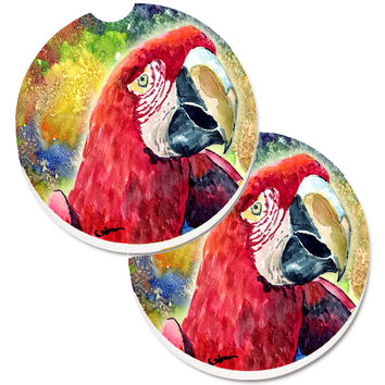 Bird - Parrot Set of 2 Cup Holder Car Coasters 8607CARC