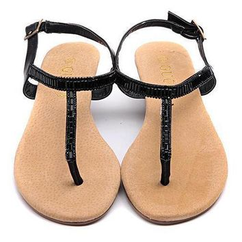 GUCCI Women Casual Low Heels Sandals Shoes