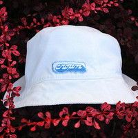 USSR Cotton Sun Hat / Soviet Vintage White Panama Hat - Sport - СПОРТ Patch in Russian / Kids, Teens Summer Hat ----> 12 + ...