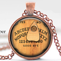 Initial H Necklace,Best Friend,Back to School Teacher Gift The Letter H Art Pendant Nostalgic Ouija Board Personalized Necklace H charm