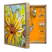 Ginette Fine Art Sunflower Yellow Ribbon BlingBox Petite