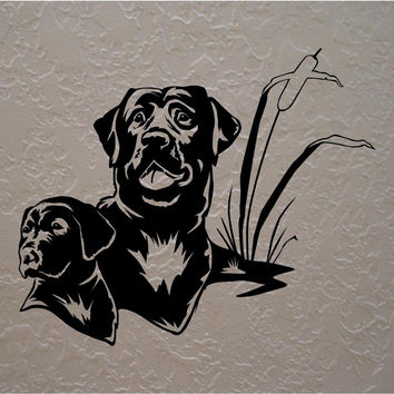 Labrador Retriever Wall Decals Mural Home Decor Vinyl Stickers Decorate Your Bedroom Nursery