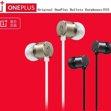 Original OnePlus Bullets Earphones V2 In-Ear Earphone headset With Remote + Mic for One plus three threeT , 1+ 3T / 3 1 x 2 T